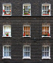 Apartment windows Royalty Free Stock Photo