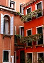 Apartment Windows, Venice Italy Royalty Free Stock Image