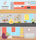Apartment zone banner for web and mobile design