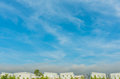 apartments (condo) and beautyful blue sky Royalty Free Stock Photo