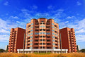 Apartments flats in high rise building in brick Royalty Free Stock Image