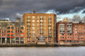 Apartments in london uk historical warehouse converted into luxury on the thames Stock Photography
