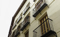 Apartments several with balconies in madrid Royalty Free Stock Photography