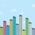 Apartments vector illustration of colorful high stacked Royalty Free Stock Photo