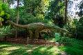 Apatosaurus display model in Perth Zoo Royalty Free Stock Photo