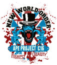 Ape project show new world order Stock Photo