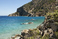 Apella beach on windy day - Karpathos Royalty Free Stock Photos