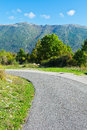 Apennines winding paved road in the italian Royalty Free Stock Image