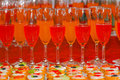 Aperitif for wedding party point of view Royalty Free Stock Photography