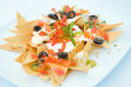 Aperitivo do mexicano dos Nachos Imagem de Stock Royalty Free