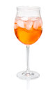 Aperol spritz in a wine glass Royalty Free Stock Images