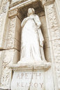 APETH (Greek for Arete), the statue representing virtue. The site and ruins of Ephesus Royalty Free Stock Photos