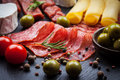 Apetizers photo of antipasti and appetizers Royalty Free Stock Images