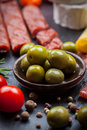 Apetizers photo of antipasti and appetizers Stock Photos