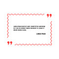 Aphorism in thin line postage stamp