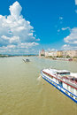 Aphoto danube river floating city center budapest hungary parliament building background Stock Photography