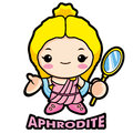 Aphrodite, the goddess of beauty Stock Images