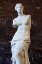 Aphrodite of milos the venus di milo a sculpture the roman goddess venus is known by the greeks as it is currently on permanent Stock Photo
