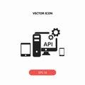 API, application programming interface icon