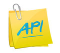 Api memo post sign concept illustration design Royalty Free Stock Photo