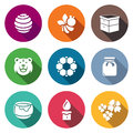 Apiary Icons Set. Vector Illustration
