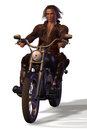 Apocalypse biker from the badlands illustration d poser Royalty Free Stock Photography