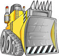 Apocalyptic Bulldozer Vector Stock Images