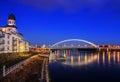 Apollo bridge in Bratislava Harbour building, Slovakia