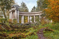 Apollo Colonnade in Pavlovsk Park in autumn, Saint Petersburg, Russia Royalty Free Stock Photo
