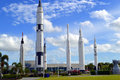 Apollo rockets on displayin the rocket garden at Kennedy Space Center