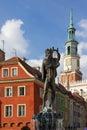 Apollo s fountain. Poznan. Poland Royalty Free Stock Image