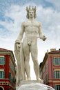 Apollo statue on the place massena in nice france Royalty Free Stock Images