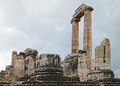 Apollo temple in turkey ruins of ancient didyma Royalty Free Stock Photography