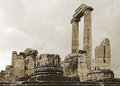 Apollo temple in turkey ruins of ancient didyma Stock Images