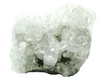 Apophyllite geode geological crystals semigem mineral isolated Stock Photos