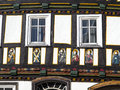 Apostel half timbered house in fairy tale town of steinau Royalty Free Stock Image