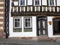Apostel half timbered house in fairy tale town of steinau Royalty Free Stock Photography