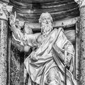 Apostle paul statue of st at the basilica of st john lateran in rome Stock Images