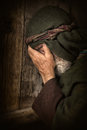 Apostle Peter in shame and repentance Royalty Free Stock Photo