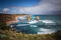 Apostles the at great ocean road australia Stock Photos