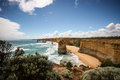 Apostles the at great ocean road australia Royalty Free Stock Images