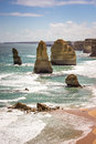 Apostles the at great ocean road australia Royalty Free Stock Image