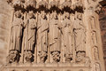 Apostles, Notre dame de Paris Royalty Free Stock Photo