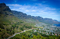 The apostles view of from lions head mountain walk in south africa Stock Photo
