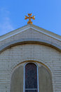 Apostolic Armenian church cross sky Royalty Free Stock Photo