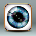 App design eye icon eps illustration Royalty Free Stock Images