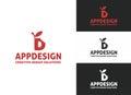 App Design Letter D Logo Royalty Free Stock Photo