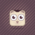 App icon cat vector animal eps Royalty Free Stock Photography