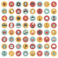 App icon set. Icons for websites and mobile applications. Flat Royalty Free Stock Photo