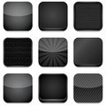 App Icons - Black Royalty Free Stock Photo